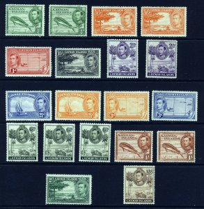 CAYMAN ISLANDS KG VI 1938-48 Pictorial Set ex 5/- + Varieties SG 115 - 126  MINT