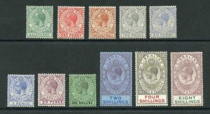 Gibraltar SG89/101 Set wmk Script Fresh M/M Cat 400 pounds