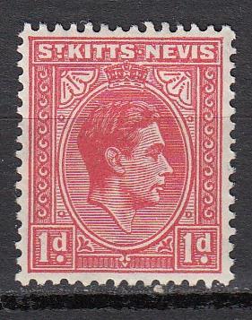 St.Kitts-Nevis - 1938 KGVI 1p Sc# 80 - MNH (857)