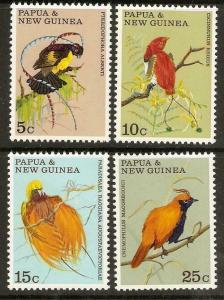 PAPUA NEW GUINEA SG173/6 1970 BIRDS OF PARADISE MNH
