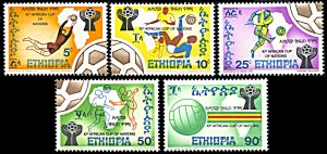 Ethiopia 763-767, MNH, 10th African Cup of Nations Football Championship