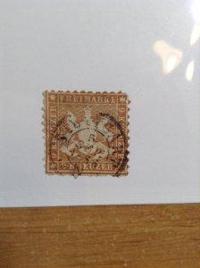 Germany  (Wurttemburg) SC #39   Used