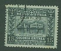 Eritrea ~ Italian Colony SC# 52 Palace 1916
