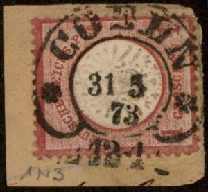 German 1873 Coeln Hufeisen Horseshoe Cancel Lg Eagle Brustschild Expertize 85967