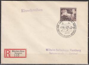 Germany - 28.7.1940 Horse Race as single franking on registered cover (2579)