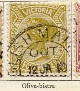 Victoria 1901 Early Issue Fine Used 4d. NW-11563