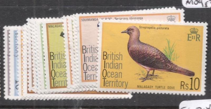 British Indian Ocean Territory Birds SC 63-77 MOG (10dhy)