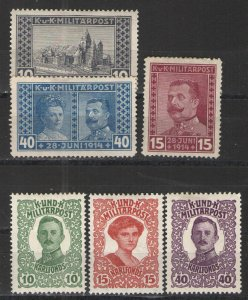 Austria - 1914-18 Military Post/Military semi postals MH VG/F