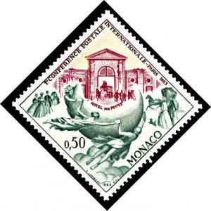 Monaco 541, Hinged, Centennial of First Postal Conference