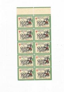 1931 CHRISTMAS SEAL, FULL BOOKLET PANE, MNH, OG