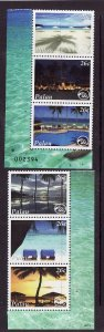 Palau-Sc#957a-f-Unused NH stamps from the souvenir sheet-Pacific Resort-2009-