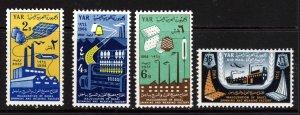 YEMEN 1964 Inauguration of Spinning & Weaving Factory Set SG 255 to SG 258 MNH