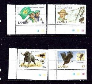 Zambia 268-71 MNH 1982 Scouting Year