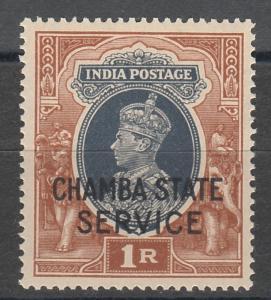 CHAMBA 1938 KGVI SERVICE 1R MNH **