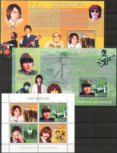 Congo 2006 Music Rock Band  The Beatles  sheet + 4 S/S MNH 2 scans