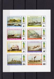 Bernera Islands 1979 SHIPS/Rowland Hill Sheetlet (9) Imperforated MNH