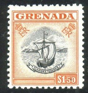 GRENADA 1953 $1.50 Ships / arms MNH........................................52334