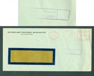 Finland. Cover 1940. Commercial,Machinery, Frame,Censor,Meter Stamp. Helsinki.