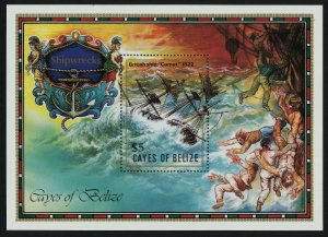 Cayes of Belize 27 MNH Shipwrecks, Comet