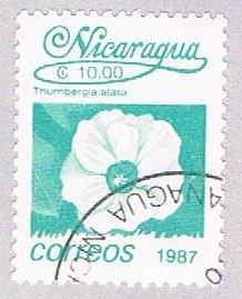 Nicaragua Flower 10 - pickastamp (AP107925)