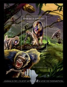 Guinea MNH S/S Monkeys Primates Wildlife 2012