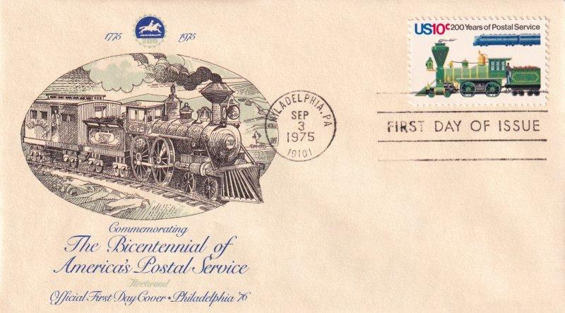 1975, Bicentennial America's Postal Service, Fleetwood, FDC (E11854)