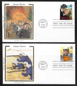 USA 2445-8 Classic Films Colorano First Day Cover FDC (z6)