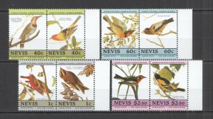 LED07 NEVIS BIRDS FAUNA LEADERS OF THE WORLD SET MNH