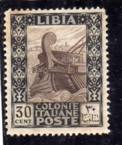 LIBIA 1921 PITTORICA CENT. 30c MLH BEN CENTRATO