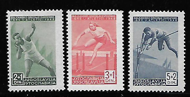 YUGOSLAVIA B155-B157 MINT HING SHOT PUT