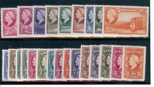 Surinam, 184-207, Queen Wilhelmina Singles,**MNH**