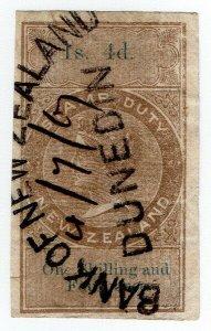 (I.B) New Zealand Revenue : Stamp Duty 1/4d (reversed & inverted watermark)