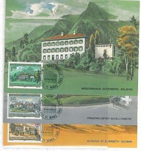 ARCHITECTURE : 3 MAXIMUM CARD - LIECHTENSTEIN 1985