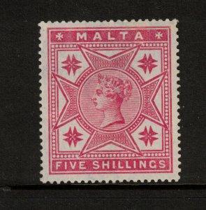 Malta #14 Very Fine Mint Lightly Hinged