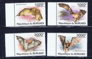 Burundi 837-40 MNH 2011 Bats