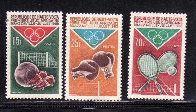 ALTO VOLTA HAUTE VOLTA UPPER VOLTA BURKINA FASO 1965 AFRICAN GAMES JEUX AFRIC...