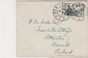 Eire Ireland 1911 Dun Laoghaire Cancels Stamp Cover to England Ref 34919