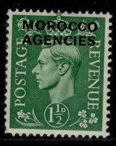 MOROCCO AGENCIES GVI SG96, 1½d pale green, M MINT.