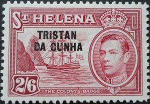 Tristan Da Cunha 1952 GVI 2/6 SG 10 mint