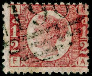 SG48, ½d rose-red PLATE 15, USED. Cat £40. FA