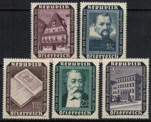 Austria #B281-5*  CV $11.05