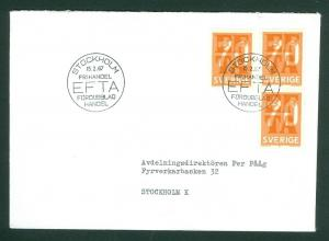 Sweden FDC. 1967. EFTA Eur. Free Trade Association. Address: Stockholm