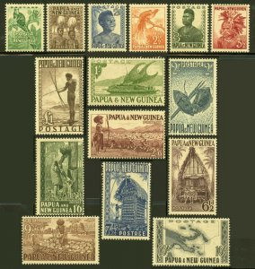 PAPUA NEW GUINEA  SCOTT#122/36  MINT NEVER HINGED--SCOTT $160.00