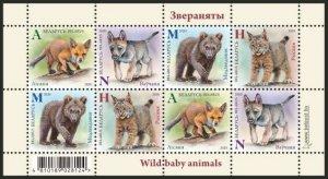 belarus 2020 wild baby animals fox bear  klb MNH