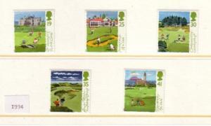 Great Britain Scott  1567-71 1994 Golf Courses stamp set mint NH