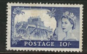 Great Britain Scott 311 MH* 1955 10sh stamp CV$100 tone