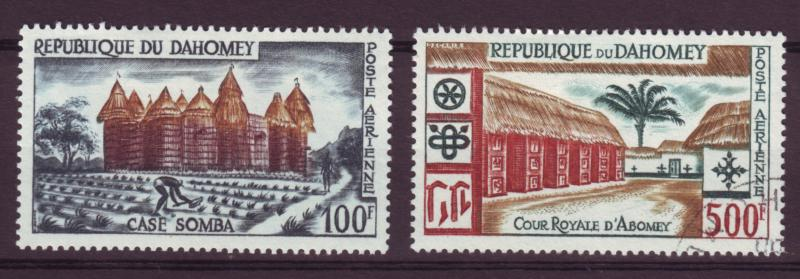 J15295 JLstamps 1960 dahomey mh/used set #c14-5 buildings
