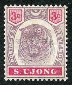 Negri Sembilan SG55 1894 3c wmk Crown CA M/Mint