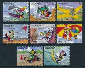 [22541] Grenada 1992 Disney Characters enjoy action sports MNH