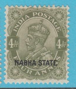 INDIA NABHA 57  MINT HINGED OG * NO FAULTS EXTRA FINE !